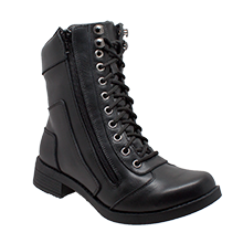 8650 Women's Zipper Biker Boot - Stofma  Hub