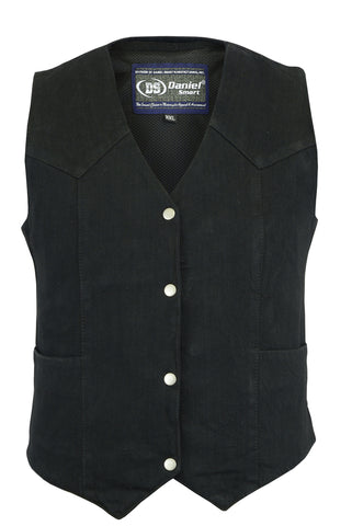 Women's Denim Classic Plain Sides Vest