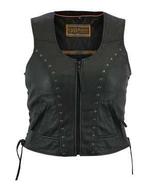 Women's Lightweight Vest with Rivets Detailing