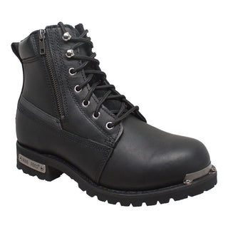Mens 6' Reflective Double Zipper Biker Boot