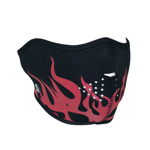 ZAN Half Mask- Neoprene- Red Flames
