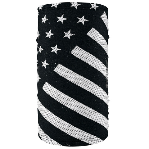 Motley Tube Polyester, Black and White Flag