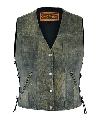 Women's Antique Brown Single Back Panel Concealed Carry Vest