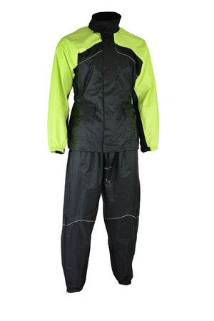 DS592HV Rain Suit (Hi-Viz Yellow)