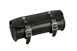 Premium Large Leather Round Tool Bag