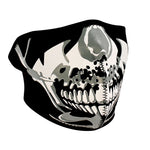 ZAN Half Mask- Neoprene- Chrome Skull