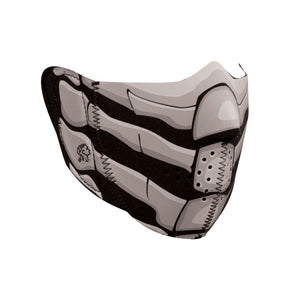 ZAN Half Mask- Neoprene- Bone Breath- Glow in the Dark