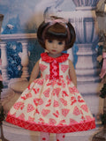 50's Reindeer - dress, tights & shoes for Little Darling Doll