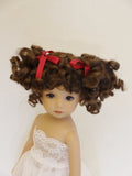 Abby Wig in Brown Black - for Little Darling dolls