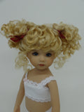 Abby Wig in Light Peach Blonde - for Little Darling dolls