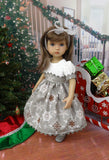 Advent Snowflakes - dress, tights & shoes for Little Darling Doll or 33cm BJD