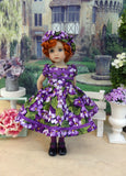 African Violet - dress, hat, tights & shoes for Little Darling Doll or other 33cm BJD