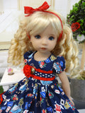 Alice in Blue - dress, tights & shoes for Little Darling Doll or other 33cm BJD