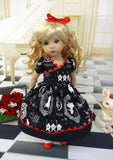 Alice's Shadow - dress, tights & shoes for Little Darling Doll or 33cm BJD