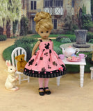 Alice's Tea Party - dress, tights & shoes for Little Darling Doll or 33cm BJD
