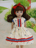 All American - dress & shoes for Little Darling Doll