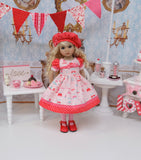 All Atwitter - dress, hat, tights & shoes for Little Darling Doll or 33cm BJD