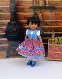Alpen Haus - dirndl ensemble with tights & shoes for Little Darling Doll or 33cm BJD