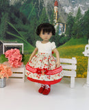 Alpine Posy - dirndl ensemble with tights & boots for Little Darling Doll or 33cm BJD
