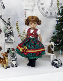 Alpine Winter Apple - dirndl ensemble with tights & boots for Little Darling Doll or 33cm BJD