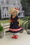 American Beauty - dress, tights & shoes for Little Darling Doll