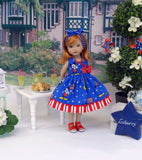 American Mickey - dress & sandals for Little Darling Doll or 33cm BJD