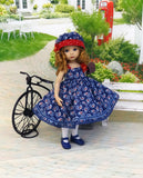 American Paisley - dress, hat, tights & shoes for Little Darling Doll or other 33cm BJD