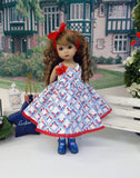 American Posy - dress, tight & shoes for Little Darling Doll or 33cm BJD