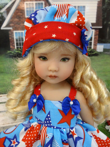 American Stars - dress, hat & sandals for Little Darling Doll or other 33cm BJD