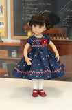 Americana - dress, tights & shoes for Little Darling Doll