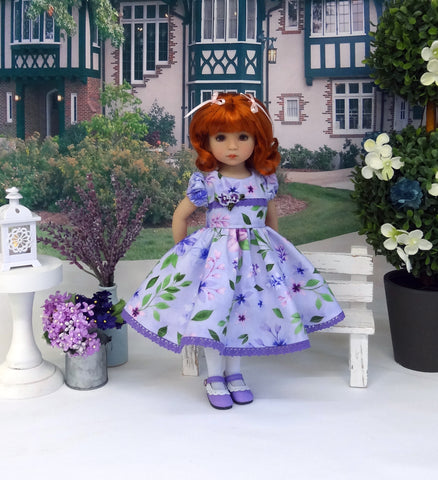 Amethyst Garden - dress, tights & shoes for Little Darling Doll or other 33cm BJD