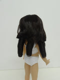 Andrea Wig in Dark Brown - for Little Darling dolls