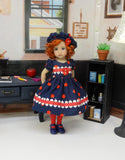Apple for Teacher - dress, hat, tights & shoes for Little Darling Doll or other 33cm BJD