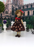 Autumn Bouquet - dress, tights & shoes for Little Darling Doll or 33cm BJD