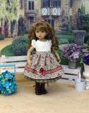 Autumn Briar - dirndl ensemble with tights & boots for Little Darling Doll or 33cm BJD