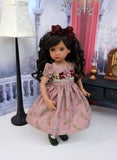Autumn Delight - dress, tights & shoes for Little Darling Doll or 33cm BJD