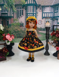 Autumn Evening - dress, sweater, hat, socks & shoes for Little Darling Doll or 33cm BJD