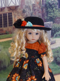 Autumn Flourish - dress, hat, tights & shoes for Little Darling Doll or 33cm BJD