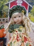 Autumn Harvest - dress, beret, tights & shoes for Little Darling Doll or other 33cm BJD