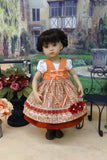 Autumn in Augsburg - dirndl ensemble with tights & boots for Little Darling Doll or 33cm BJD