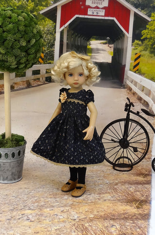 Autumn Noir - dress, tights & shoes for Little Darling Doll or 33cm BJD