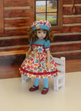 Autumn Owls - dress, hat, tights & shoes for Little Darling Doll or 33cm BJD