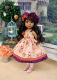 Autumnal Bouquet - dress, hat, tights & shoes for Little Darling Doll or 33cm BJD