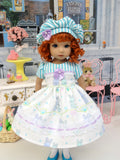 Baby Bunny Blue - dress, hat, tights & shoes for Little Darling Doll