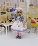 Bambi & Thumper - dress, jacket, hat, tights & shoes for Little Darling Doll or 33cm BJD