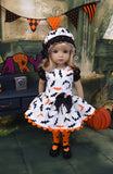 Bats in the Belfry - dress, hat, tights & shoes for Little Darling Doll or other 33cm doll