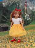 Bavarian Beauty - dirndl ensemble with tights & shoes for Little Darling Doll or 33cm BJD