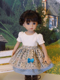 Bavarian Festival - dirndl ensemble with tights & boots for Little Darling Doll or 33cm BJD