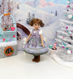 Bavarian Frost - dirndl ensemble with tights & boots for Little Darling Doll or 33cm BJD