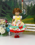 Bavarian Market - dirndl ensemble with tights & boots for Little Darling Doll or 33cm BJD